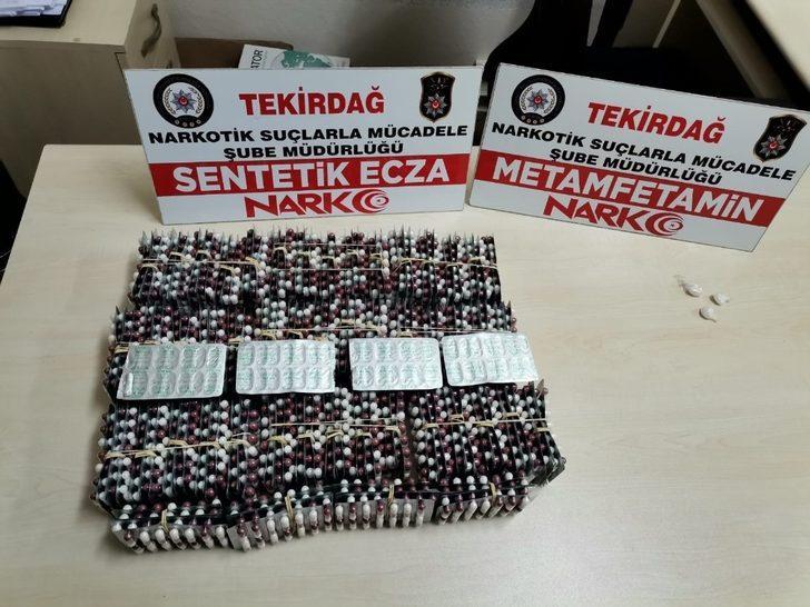 Tekirdağ'da şüpheli araçtan uyuşturucu hap çıktı: 2 gözaltı