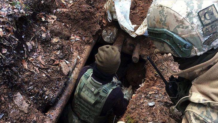 Bitlis'te terör örgütü PKK'ya ait 1 ton 50 kilogram amonyum nitrat ele geçirildi