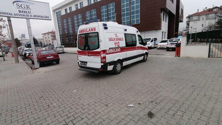 Sosyal Güvenlik Kurumu'na girmeye çalışan korona virüs temaslısı yurda yerleştirildi