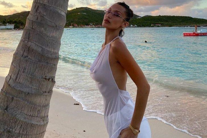 Bella Hadid'in pantolonu olay oldu! Seks detayı