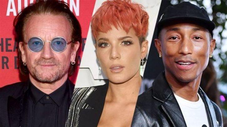 Sing 2 kadrosu yıldızlar geçidi gibi: Bono, Halsey, Pharrell Williams