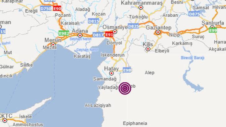Hatay ve çevresinde korkutan deprem