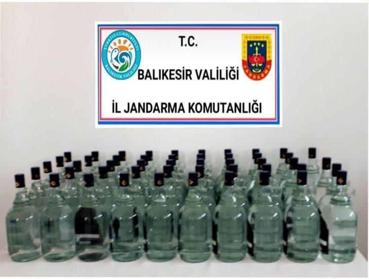 Kaçak etil alkol ele geçirildi