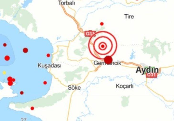 Aydın'da 3.7 şiddetinde deprem meydana geldi