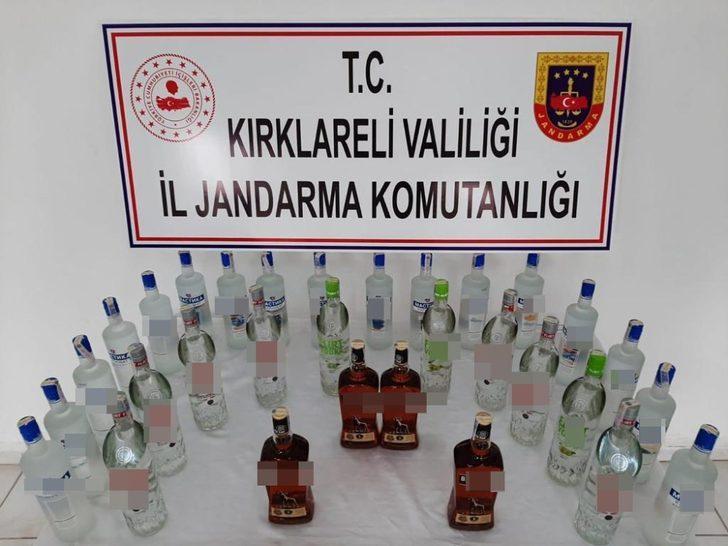 Kırklareli'nde kaçak içki operasyonu: 2 gözaltı