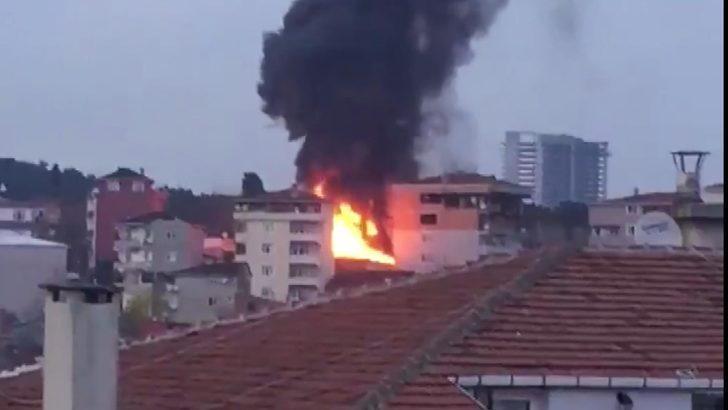 Sarıyer'de korkutan yangın