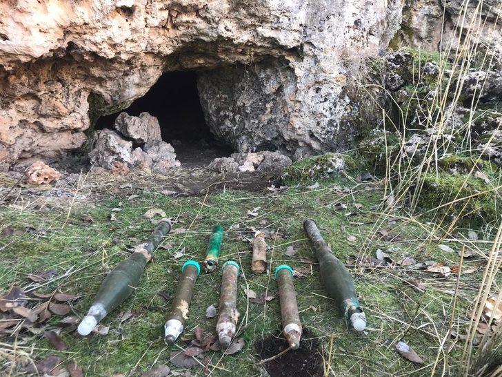 Mardin'de teröristlere ait sığınakta roketatar mühimmatı ele geçirildi