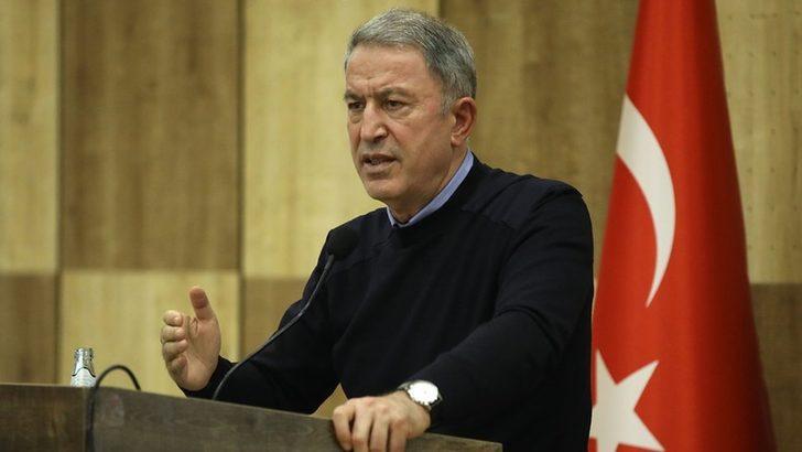 Bakan Akar: Türk unsurlarına yapılacak herhangi bir saldırı girişiminde Hafter unsurları meşru hedef olarak görülecektir