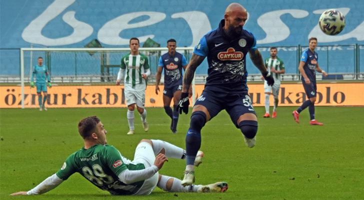 Konyaspor 1-1 Çaykur Rizespor (Maç sonucu)