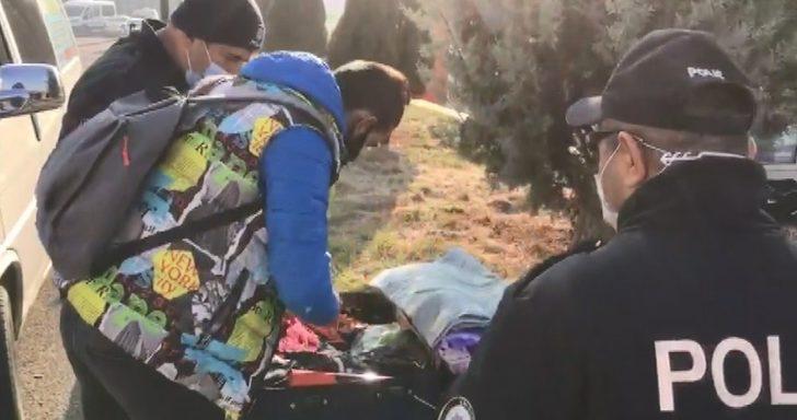 Adliye otoparkına bırakılan bavul polisi harekete geçirdi