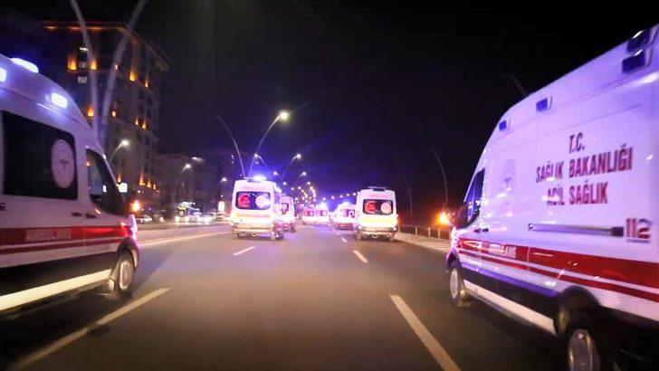 Şanlıurfa'ya siren çalarak giren 38 ambulans şoförüne soruşturma