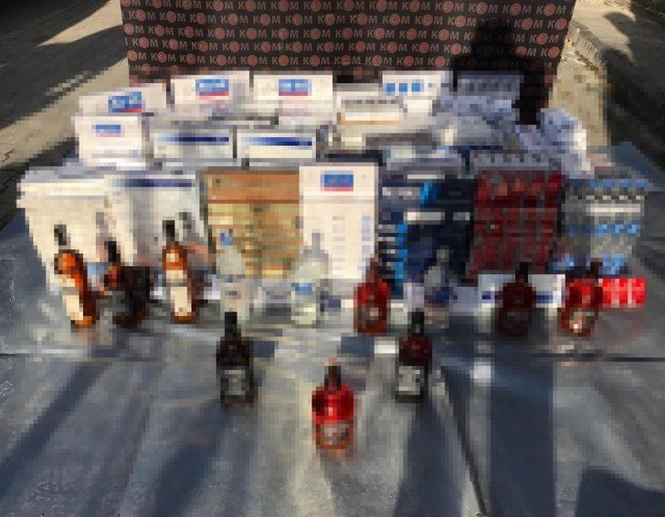 Düzce'de kaçak alkol ve sigara operasyonu: 1 gözaltı