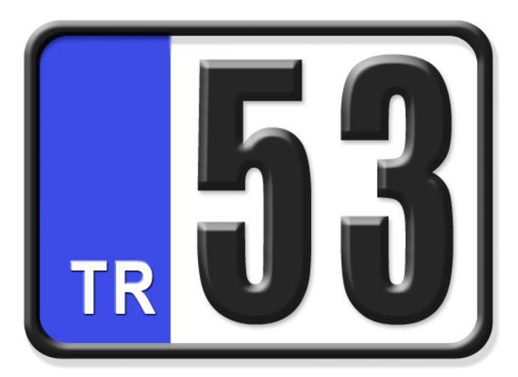 53 nerenin plakası? Hangi ilin araç plaka kodu 53?