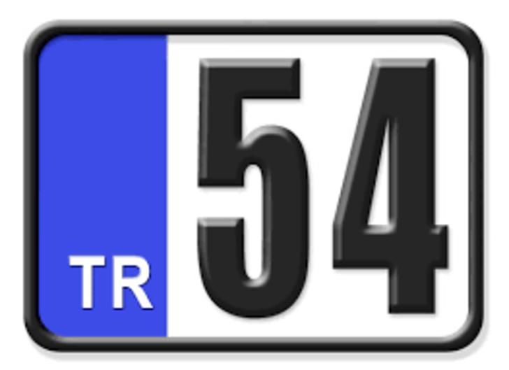 54 nerenin plakası? Hangi ilin araç plaka kodu 54?