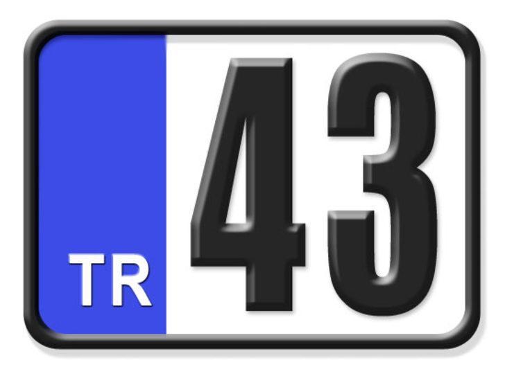 43 nerenin plakası? Hangi ilin araç plaka kodu 43?