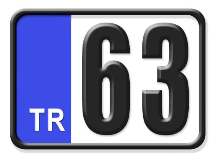 63 nerenin plakası? Hangi ilin araç plaka kodu 63?