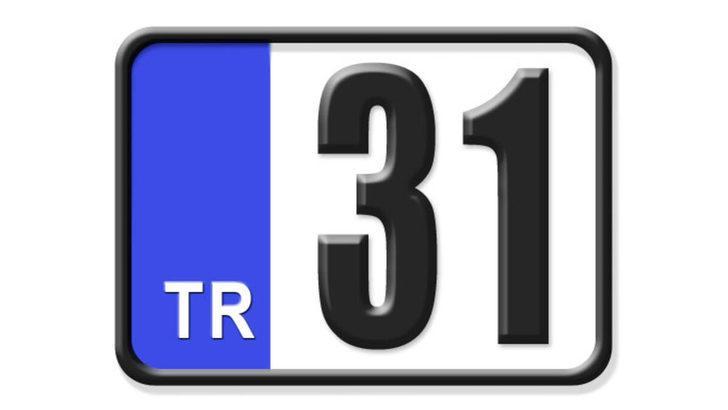31 nerenin plakası? Hangi ilin araç plaka kodu 31?