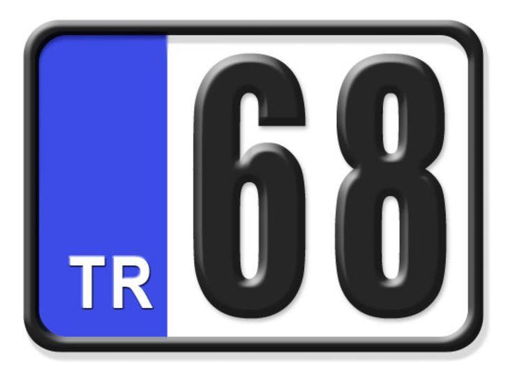 68 nerenin plakası? Hangi ilin araç plaka kodu 68?