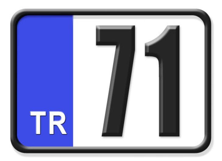 71 nerenin plakası? Hangi ilin araç plaka kodu 71?