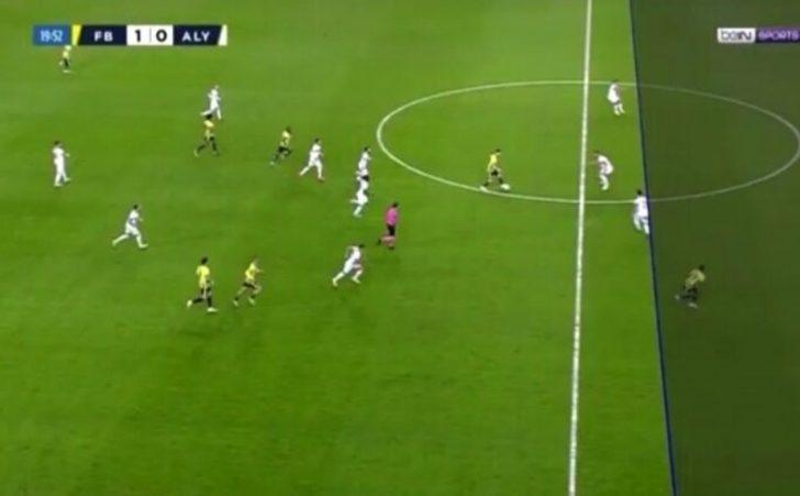 Fenerbahçe - Alanyaspor maçında VAR çizgisi tartışma yarattı