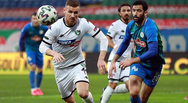 Çaykur Rizespor 1-1 Yukatel Denizlispor (Maç Sonucu)
