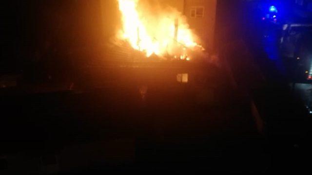 Muratlı'da ev yangını