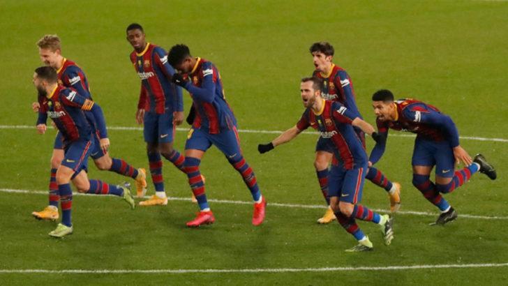 Barcelona penaltılarla ilk finalist