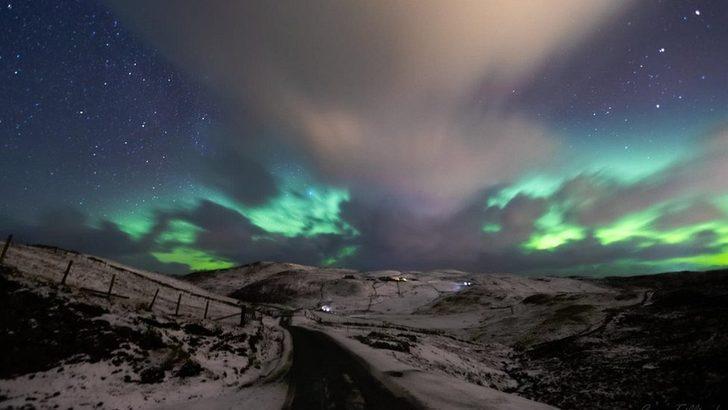 Kuzey Işıkları gökyüzünde şölen yarattı!