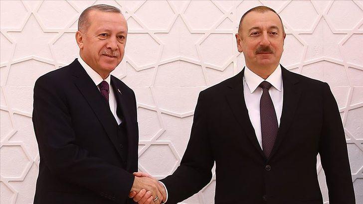 Cumhurbaşkanı Erdoğan, İlham Aliyev ile telefonda görüştü