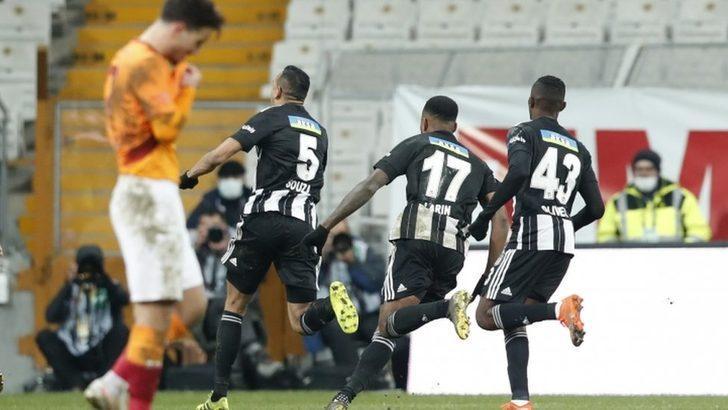 Beşiktaş 2 - Galatasaray 0: Yılın ilk derbisinde üç puan siyah beyazlıların