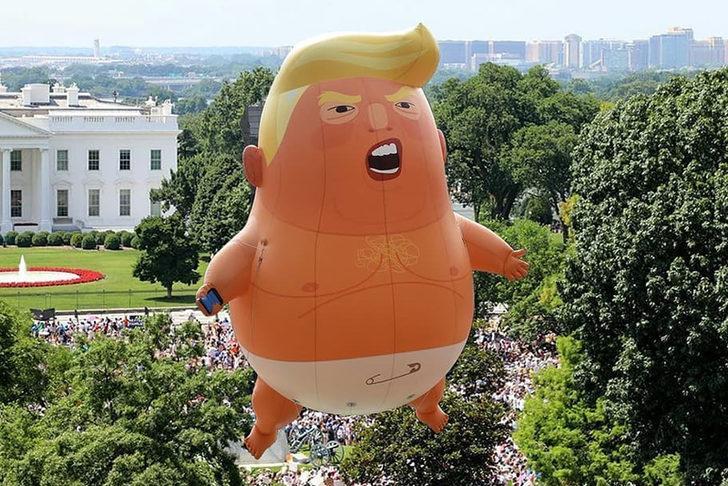 'Bebek Trump' balonu Londra Müzesi'nde sergilenecek