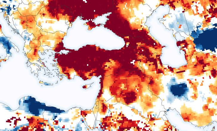 NASA Türkiye'nin yer altı sularının haritasını paylaştı! Kuraklık uyarısı