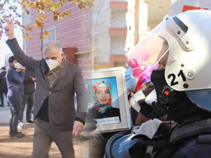 Diyarbakır'da evlat nöbetinde gerginlik! HDP'li vekilin yaptığı işaret ortalığı karıştırdı