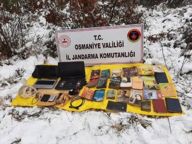 Osmaniye'de PKK'lı teröristlere ait patlayıcı, mühimmat ve yaşam malzemeleri bulundu