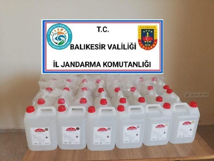 Marmara ilçesinde kaçak içki operasyonu