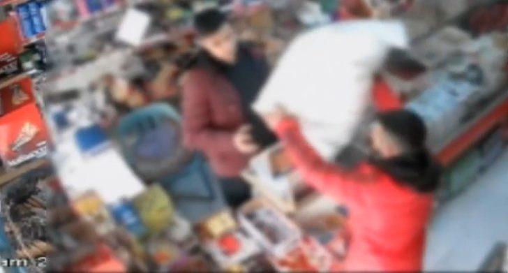 Marketten bebek bezi çalan şahıs yakalandı