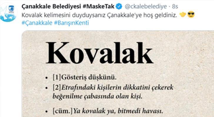 Balıkesir ve Çanakkale belediyelerinin sosyal medyadaki 'kovalak' atışması gülümsetti