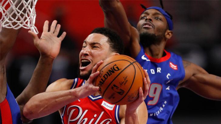NBA'de 76ers Pistons deplasmanında kazandı
