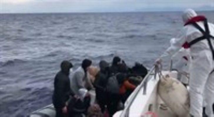 Dalaman'da 16 kaçak göçmen kurtarıldı
