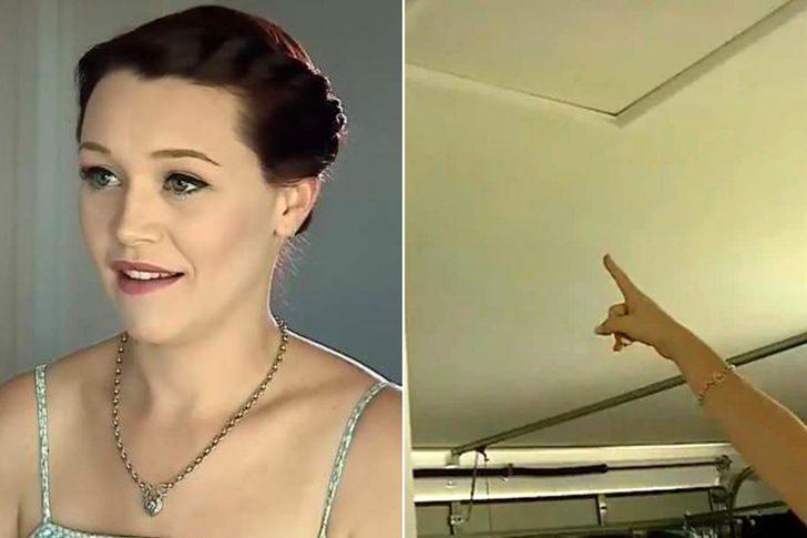 Evdeki eşyaların hareket ettiğinden şüphelenen kadın, gerçeği tavan arasında buldu