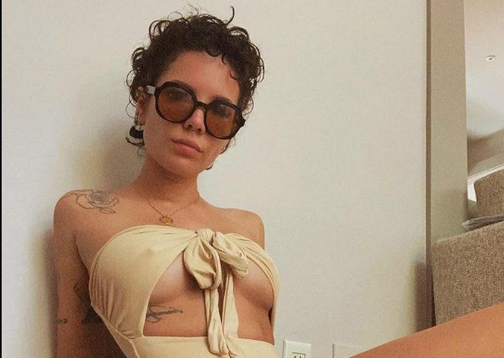 Dünyaca ünlü şarkıcı Halsey, Türk sevgilisi Alev Aydın'dan hamile olduğunu açıkladı!