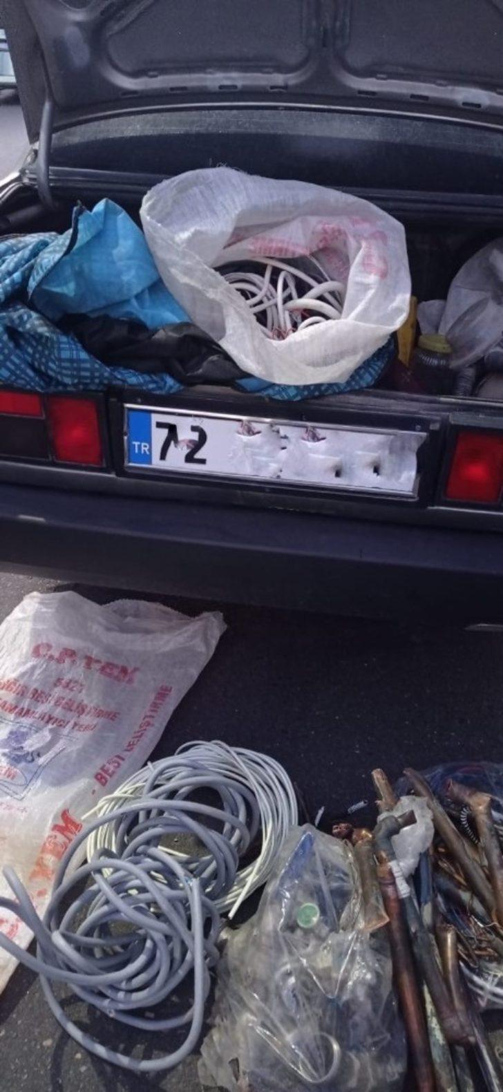 Siirt'te inşaat malzemesi çalan hırsızlar yakalandı