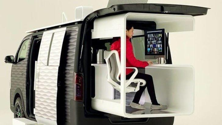 Nissan'dan yeni seyyar ofis: 'Evden değil her yerden çalışın'