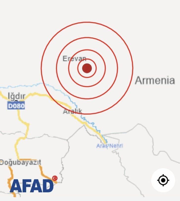 Ermenistan'daki deprem Iğdır'da da hissedildi