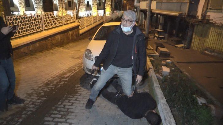 Kovalamaca sonucu yakalandı, gazetecileri tehdit etti