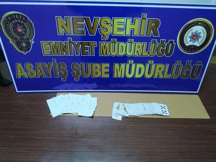 Nevşehir'de kumar oynanan dernek basıldı
