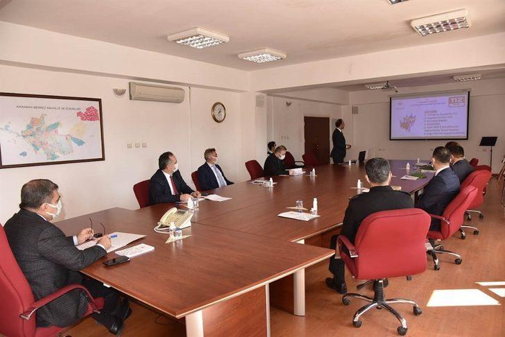 Karaman'da 112 Acil Çağrı Merkezi hizmetleri ele alındı