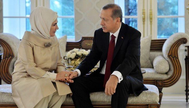 Emine Erdoğan, Cumhurbaşkanı Erdoğan'ın doğum gününü el ele fotoğrafları ile kutladı
