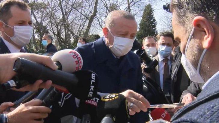 Cumhurbaşkanı Erdoğan'a vatandaşlardan doğum günü sürprizi