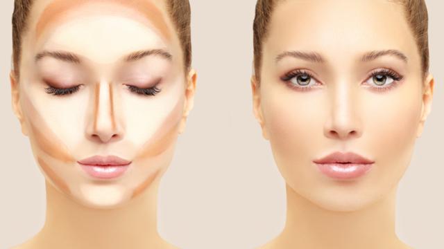 Yüzünüzü daha ince gösteren makyaj hilesi! Elmacık kemiklerini belirginleştirmede...